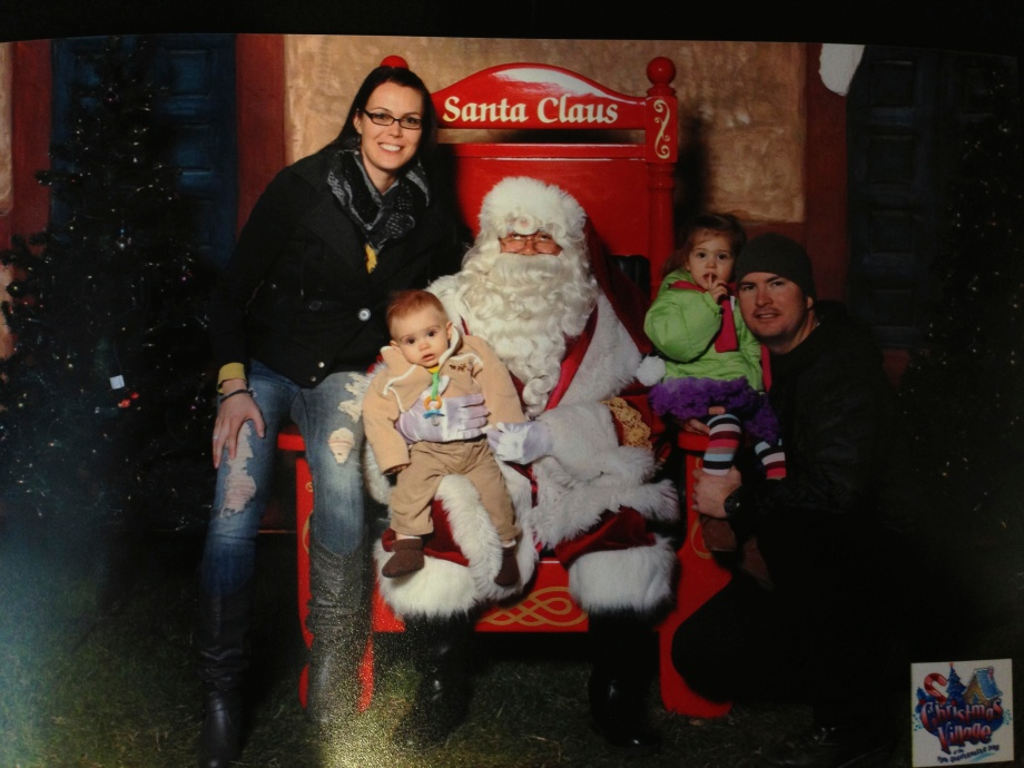 Family Picture with the Pretend Santa.