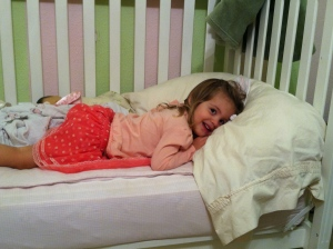 The Princess in her big girl bed!