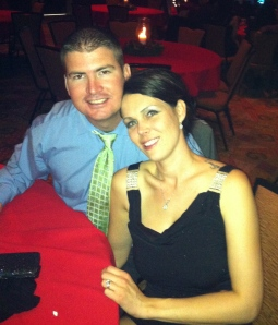 Enjoying a night out together in December '12.