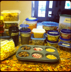A weeks worth of cooking using the Happy Herbivore Meal Plan. getmealplans.com