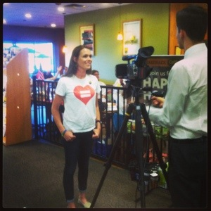 Giving my first interview for PFLAG!