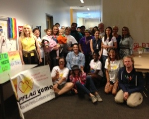 PFLAG and the GSA Celebrating National Coming Out Day.